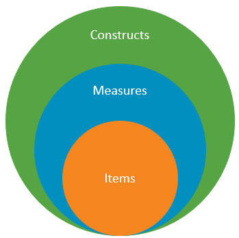 Items within Measures, within Constructs